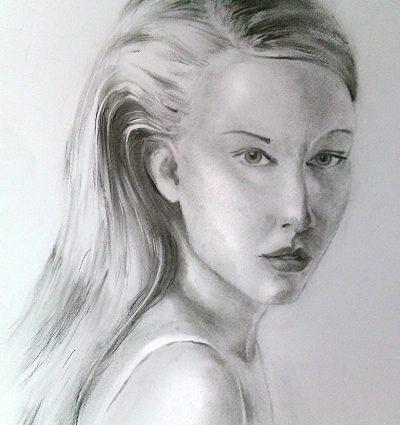 портрет с въглен