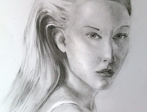 Портрет с въглен на момиче