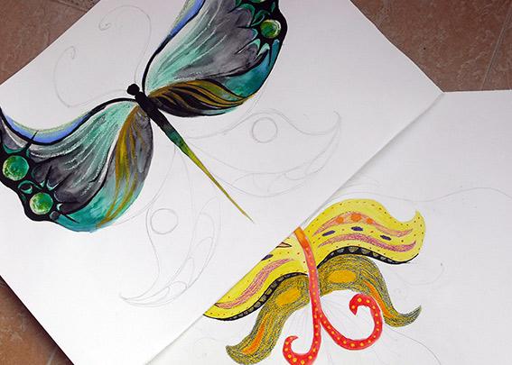 стилизация на пеперуди