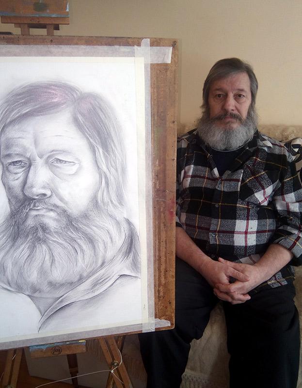 Рисуване с молив на портрет от натура